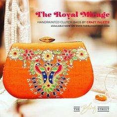 The Royal mirage collection by @crazypalette available on theblingstreet.com #handpaintedbags #designerbags #clutchbags