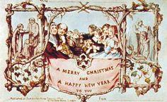 Karácsonyi üdvözlet Angliából, az egyik legelső karácsonyi képeslap 1843-ból The first Christmas card, designed by J.C. Horsley for his friend Sir Henry Cole, 1843.