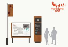 Rebrand and wayfinding for the Toronto Zoo, 2015 Zoo Signage, Signage Board, Directional Signage, Outdoor Signage, Wayfinding Signage, Signage Design, Environmental Graphics, Environmental Design, Navigation Design