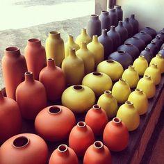 New vase colors in Sausalito. (at Heath Ceramics)