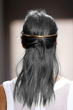 Balenciaga hair and headpiece