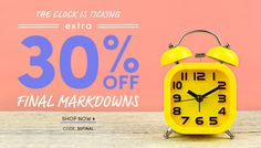 Extra 30% Off Final Markdowns - Use Code: 30FINAL