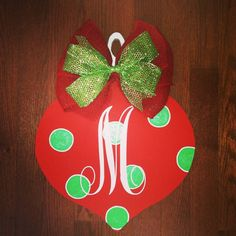 Wooden Christmas Ornament Door Hanger by Brookles13 on Etsy, $30.00