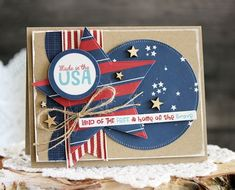 Bella Blvd All American collection. Land Of the Free card by creative team member Laurie Schmidlin.