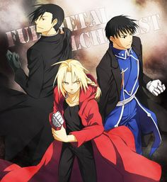 Ling Yao, Edward Elric, and Roy Mustang        _Fullmetal Alchemist Brotherhood