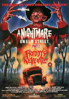 A Nightmare on Elm Street 2 Freddy's Revenge Freddy Krueger commentary. A teenage boy is haunted in his dreams by Freddy Krueger who is out to possess him to. Horror Movie Posters, Movie Poster Art, Freddy Krueger, Scary Movies, Good Movies, Halloween Movies, Halloween Masks, Freddy's Revenge, Thriller