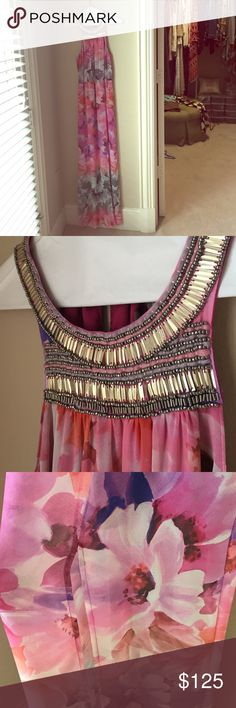 Charlie Jade Floral Beaded Dress Gorgeous floor length Charlie Jade dress. Worn once. Size small. Actually one of my favorite dresses I own but I'm downsizing houses! Dresses Maxi