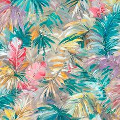 Bahamas Jewel  100 % Cotton  280 cm Stuart Graham, Silver Mist, Conversational Prints, Tropical Forest, Little Monsters, Sea Foam, Color Trends, Hibiscus, Decorative Accessories