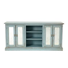 Sorrento Console with Antiqued Mirrored Doors  - available at ballarddesigns.com