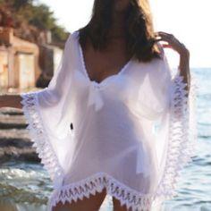 Sexy Women Chiffon Lace Crochet Bikini Cover Up  Beach Wear Coverups  JL #Affiliate