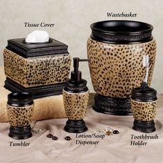 Dynasty Cheetah Bath Accessories