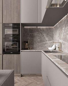 33 Trendy Kitchen Backsplash Modern Back Splashes Interior Design Luxury Kitchen Design, Kitchen Room Design, Kitchen Cabinet Design, Home Decor Kitchen, Interior Design Kitchen, Kitchen Ideas, Kitchen Colors, Stone Interior, Kitchen Layout