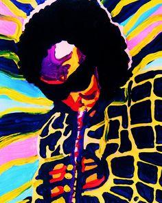 Miles Davis Painting  by  Gayland Morris