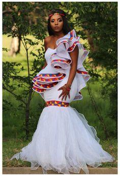 African Print Wedding Dress, African Bridal Dress, Best African Dresses, African Wedding Attire, Latest African Fashion Dresses, African Attire, Indian Bridal, Zulu Traditional Wedding Dresses, South African Traditional Dresses