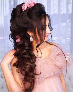 Bridal Updo With Headband Style 50 Ideas For 2019 Pakistani Bridal Hairstyles, Hairstyles For Gowns, Pakistani Bridal Makeup, Bridal Hair Updo, Romantic Hairstyles, Best Wedding Hairstyles, Indian Hairstyles, Hairstyles Haircuts, Hairstyle With Gown