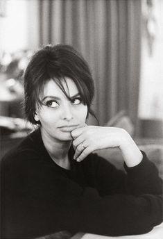 """Actress Sophia Loren"" 1960, photo by Italian photographer GIANCARLO BOTTI (born 1931). www.goachi.com"