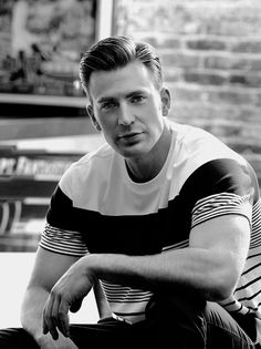 Chris Evans | Unbelievably handsome <3<3<3 -B.R.