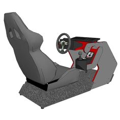 Racing simulation home gaming chair racing rig pinterest chairs racing and home - Garage auto pro arc les gray ...