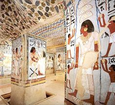 Egypt Picture - The Tomb of Sennefer on the West Bank at Luxor