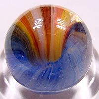 "A beautiful ""Sunburst"" sold on John's Marble site at http://www.kuzich.com/MARBLES"