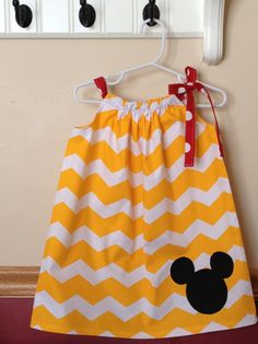 Mickey Mouse Inspired Pillowcase Dress by littlepetuniadesigns, $20.00