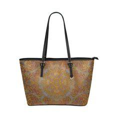 Magic mandala 2 Leather Tote Bag/Large (Model 1651)