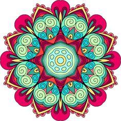 Design design - coloring fun in 2019 Mandala Doodle, Mandala Art Lesson, Doodle Art, Arte Tribal, Tribal Art, Doodle Patterns, Zentangle Patterns, Zentangles, Mandalas Drawing