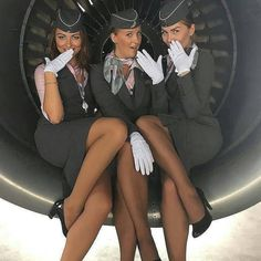 Flight Attendant Hot, Pantyhosed Legs, Airline Uniforms, Female Pilot, Hot Cheerleaders, Girls Uniforms, In Pantyhose, Nylons, Professional Outfits