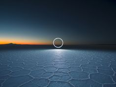 """Photographer Reuben Wu continues his stunning """"Lux Noctis"""" series with a new collection of images capturing illuminated drone paths over Bolivia's eerie salt flat landscape. World Photography, Photography Awards, Digital Photography, Landscape Photography, Landscape Photos, Travel Photography, Noctis, Light Painting, Bolivia"""