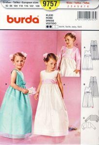 sukienka wizytowa dla dziewczynki - wykrój BURDA