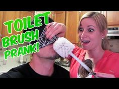 Prank vs Prank Toilet brush prank LOVE THESE PEOPLE SOOO DARN FUNNY!!