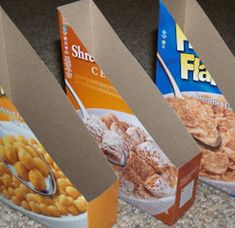 OR PUT PAPER WORK IN THEM INSIDE DRAWERS...............Turn cereal boxes into plastic lid holders. | 51 Insanely Easy Ways To Transform Your Everyday Things