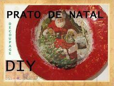 Prato de Natal em Decoupage, como fazer? - DIY - Estúdio Brigit