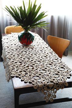 Receitas de toalhas de mesa em crochê – Passo a passo