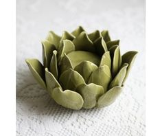 ...Lovely Lotus Porcelain Candle Holder...this looks like an artichoke...it would be cute on a dining table