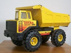 Tonka Dump Truck. Davey had one and so did Matthew. Matthew and Sean would fill it up with dirt and transporter the dirt to across the other side of the yard.