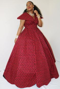 Long African Dresses, Latest African Fashion Dresses, African Print Dresses, Dress Fashion, Fashion Top, African Prints, Street Fashion, Fashion Outfits, Red Ball Gowns