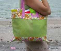 FREE project: Mesh Beach Bag (from OCD: Obsessive Crafting Disorder)