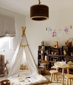 Bohemian Kids Room with Teepee