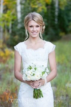 Lace modest wedding dress by josie
