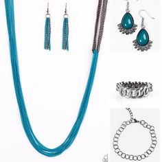 Check out these blue and gunmetal items. They're absolutely stunning😍 The best part is everything is only $5 each!! Get yours now before they sell out! Www.sarahschicdesigns.com #jewelry #necklace #earring #bracelet #ring #thin #blue #gunmetal #paparazzijewelry #freeearrings #paparazziaccessories #onlyfivedollars #fivedollars #shopnow #Christmas #christmasgift #stockingstuffer #joyeria #pulsera #collar #arete #anillo #comprahora #regalodenavidad #navidad #gratisarete #solocincodinero