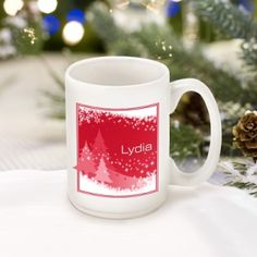 Great Unique Personalized Gift Ideas. Red Snowscapes Coffee Mug http://www.greatuniquegiftideas.com/product/red-snowscapes-coffee-mug/ Check more at http://www.greatuniquegiftideas.com/product/red-snowscapes-coffee-mug/