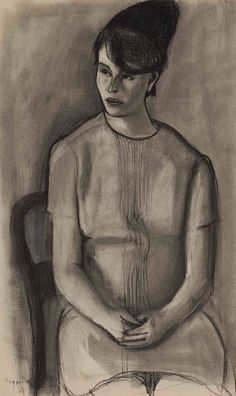 Леонид Павлович Зусман (1906 - 1984) Портрет девушки. 1971