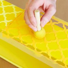How To: Stencil a Metal Caddy