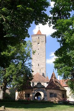 The western town gate, Rothenburg