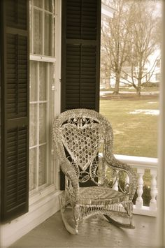 Yes please, i want this old wicker rocker with the heart on the back!
