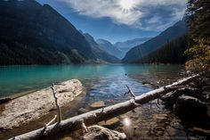 The often photographed Lake Louise, Alberta, Canada from a different vantage point. Jim Ross.