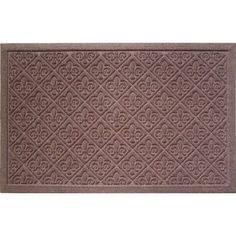 Fleur Dy Lis 22 in. x 35 in. Weather Beater Door Mat, Browns/Tans