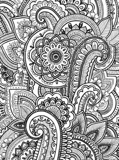 Paisley Zentangle by Emma Lin