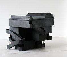 'Bijou 2′ by Remy Jacquier, 2006. Cardboard, paint, 30X30X40 cm.